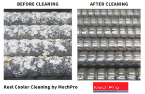 MechPro Inc. Keel Cooler Cleaning service before-and-after