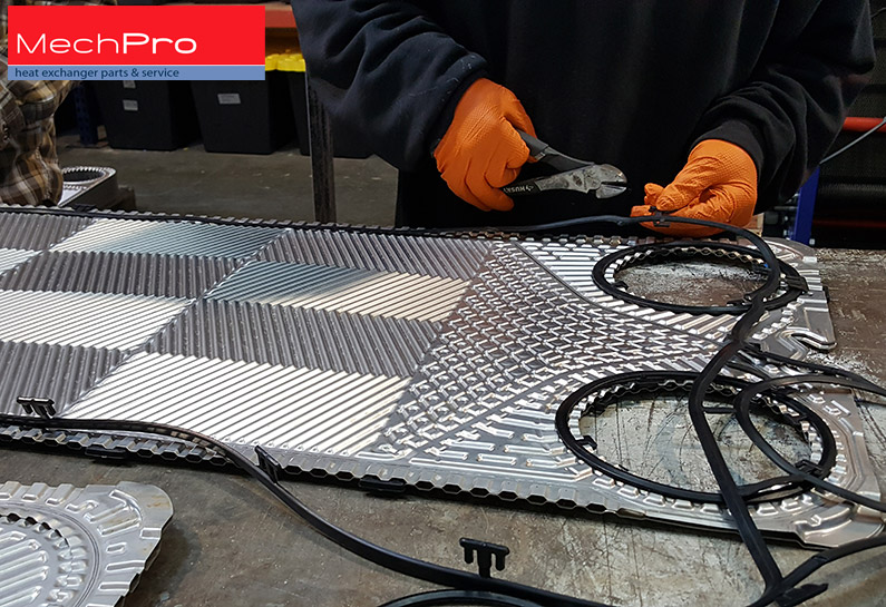 heat exchanger plate re-gasketing by MechPro Inc.