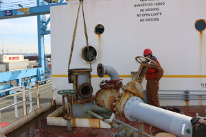 2  Fuel Transfer Pumps Removal Project from Fuel Barge